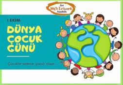 01 Ekim Dünya Çocuk Günü