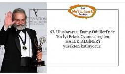 47.Uluslararası Emmy Ödülleri'nde ''En İyi Erkek Oyuncu'' seçilen HALUK BİLGİNER 'İ yürekten kutluyoruz.